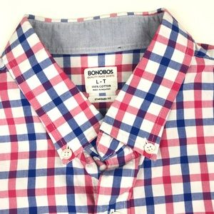 Bonobos Men's Gingham Button Front Shirt Large